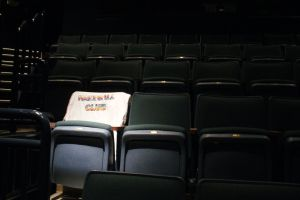 This empty chair was lit in Ben's honor, and adorned with a t-shirt from his Handball Club.