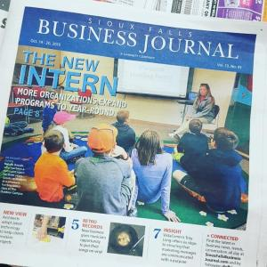 Matthew Stoffel cover story Sioux Falls Business Journal more internships offered during school year