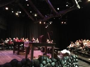 UNL's Dancing at Lughnasa set, Brian Friel, Laura Lippman - Matthew Stoffel